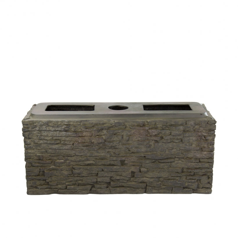 Aquascape UK Stacked Slate Wall Base -Straight Small - WaterFeature.Shop