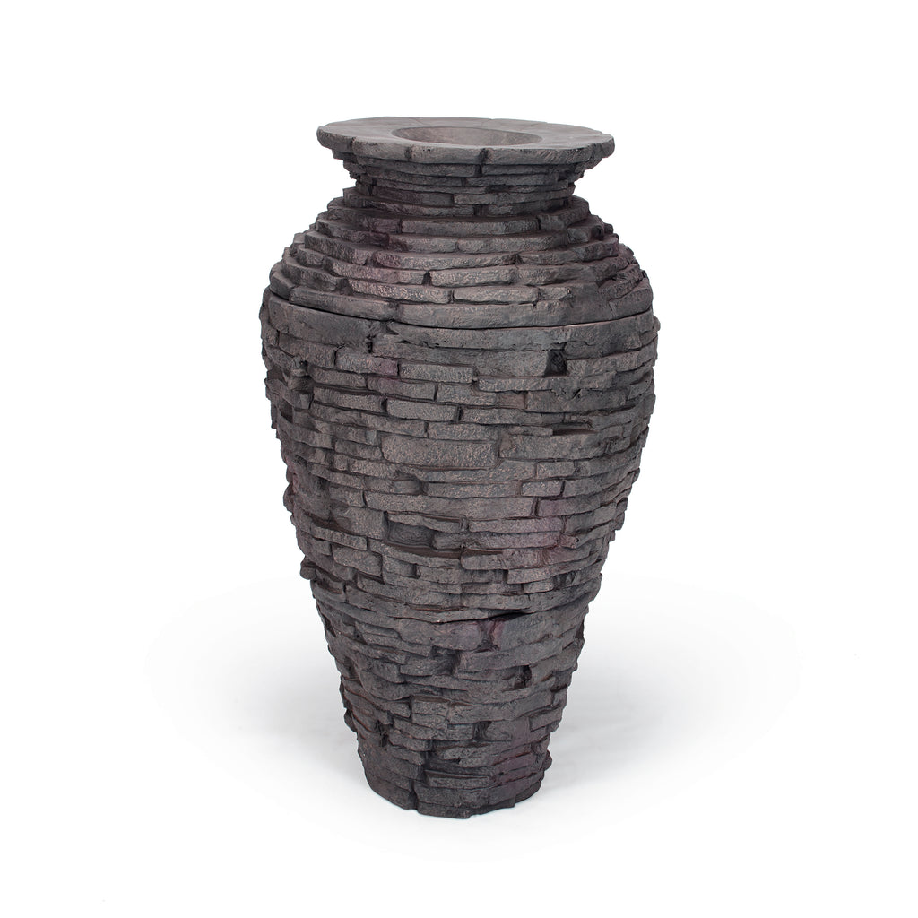 Small - Stacked Slate Urn - WaterFeature.Shop