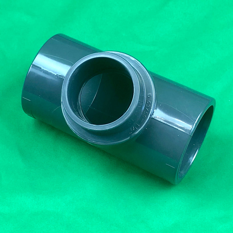 Reducing Tee solvent 63mm straight to 50mm - WaterFeature.Shop