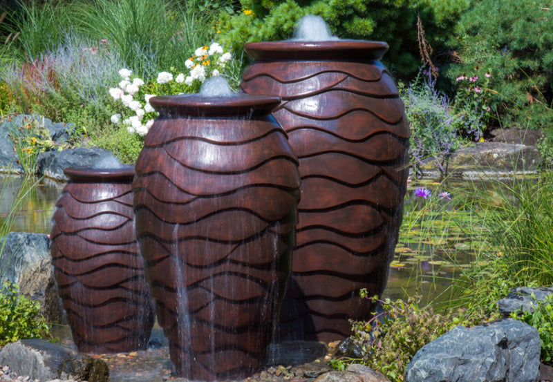 Large - Scalloped Urn - WaterFeature.Shop
