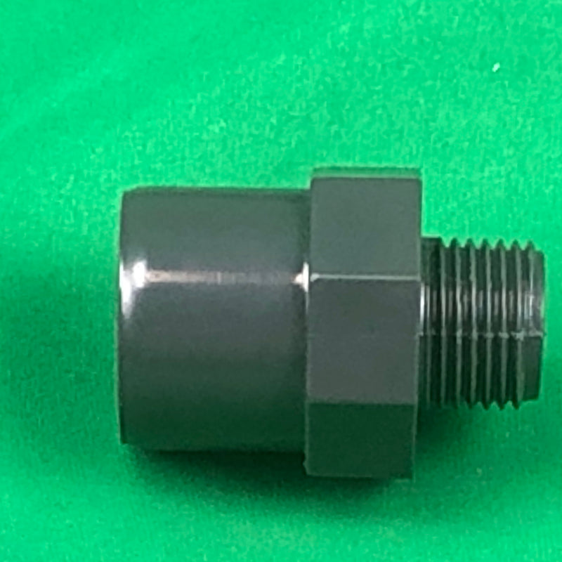 1/2 Inch Male - 25mm PVC - WaterFeature.Shop