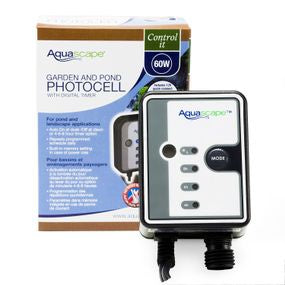 Aquascape UK Garden and Pond Photocell With Digital Timer - WaterFeature.Shop