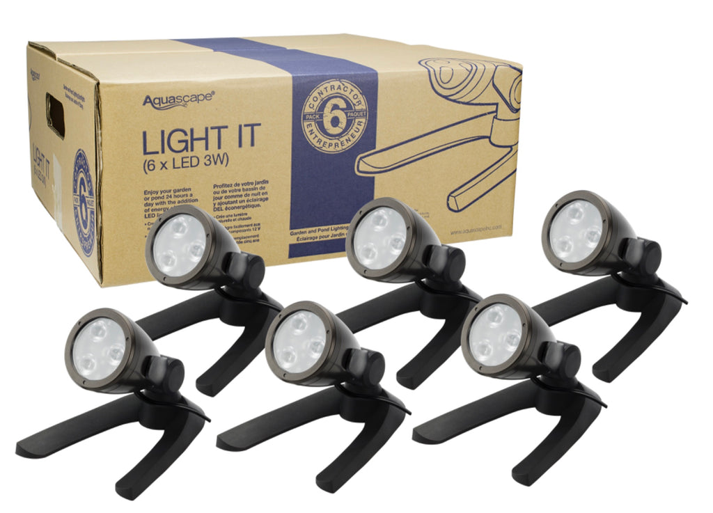 Aquascape UK 3-Watt LED Spotlight 6-pack - WaterFeature.Shop