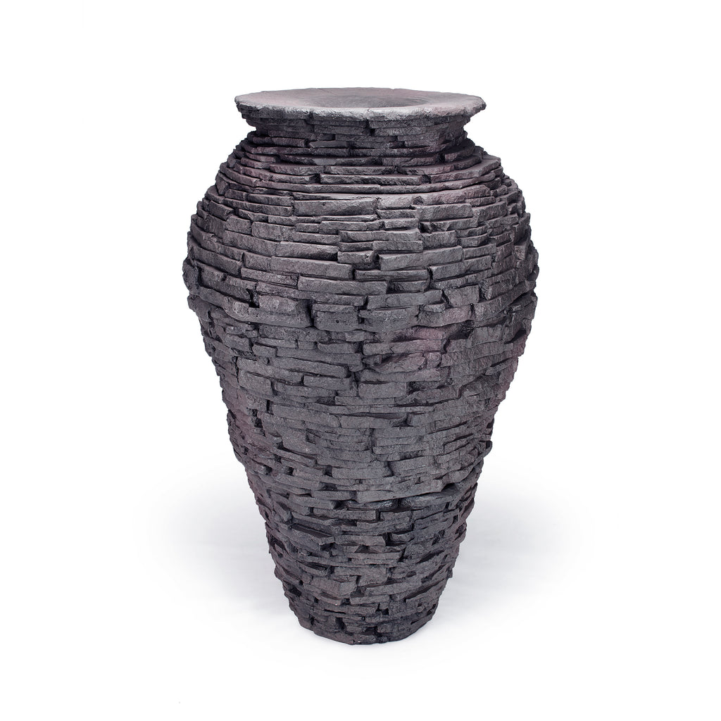 Large - Stacked Slate Urn - WaterFeature.Shop