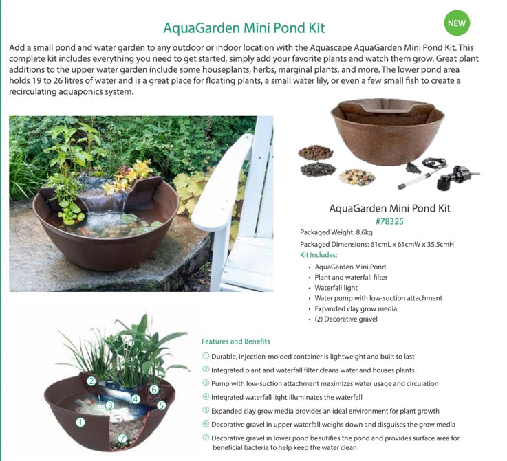 aquagarden pond kit - WaterFeature.Shop