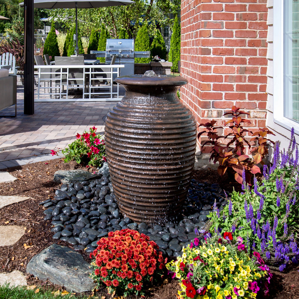 Aquascape Rippled Urn Landscape Fountain Kit - WaterFeature.Shop