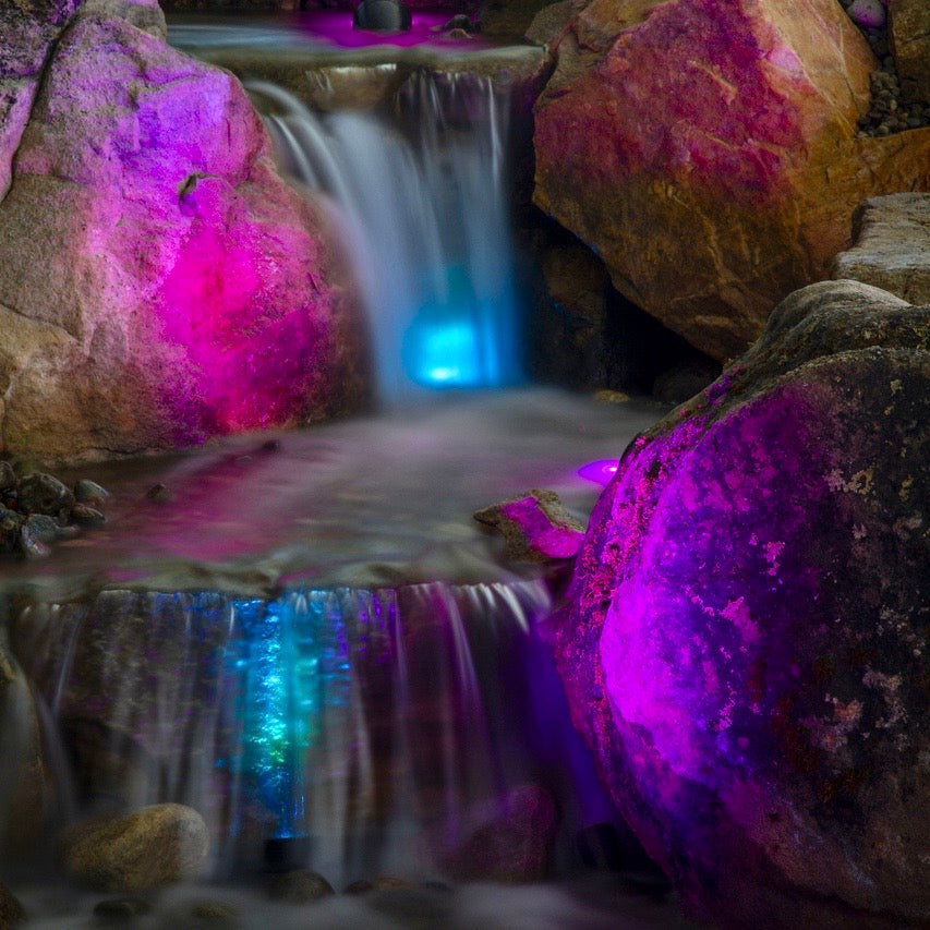 LED KIT - Lighting Package 3 x 2 Watt (Colour Changing Waterfall and Garden Lights) - UK - WaterFeature.Shop