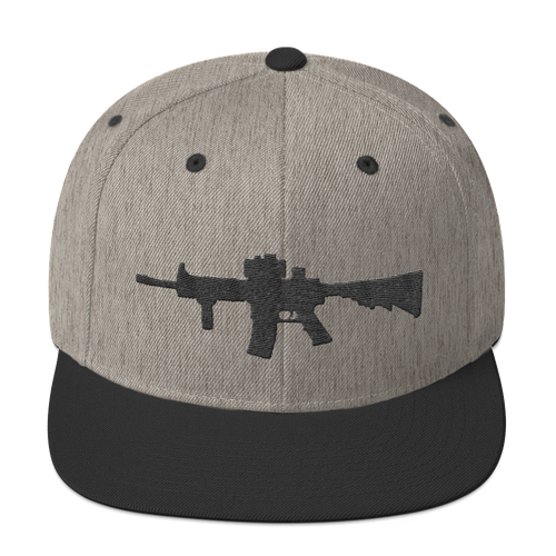 Rifle Snapback Hat Heather-Black