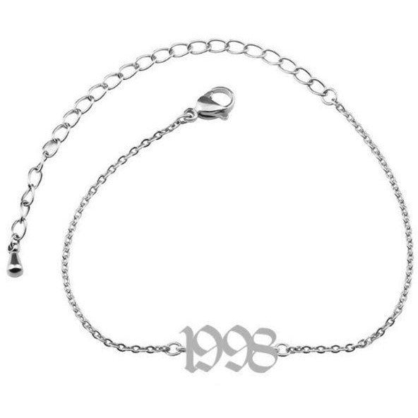 Custom Birth Year Anklet