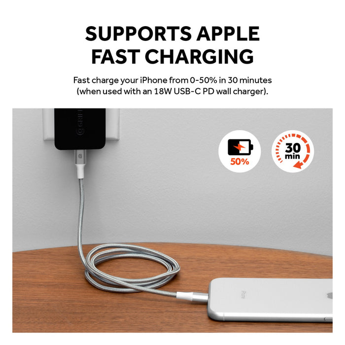 Premium USB-C to Lightning Cable - 5FT