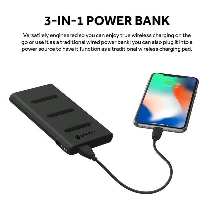 Reserve Wireless Charging Power Bank, 5000mAh