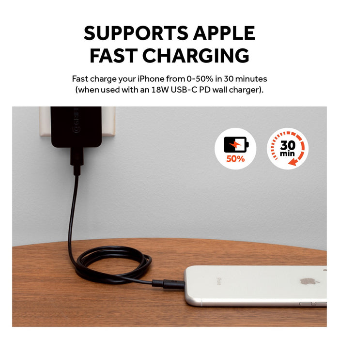 USB-C to Lightning Cable - 4FT