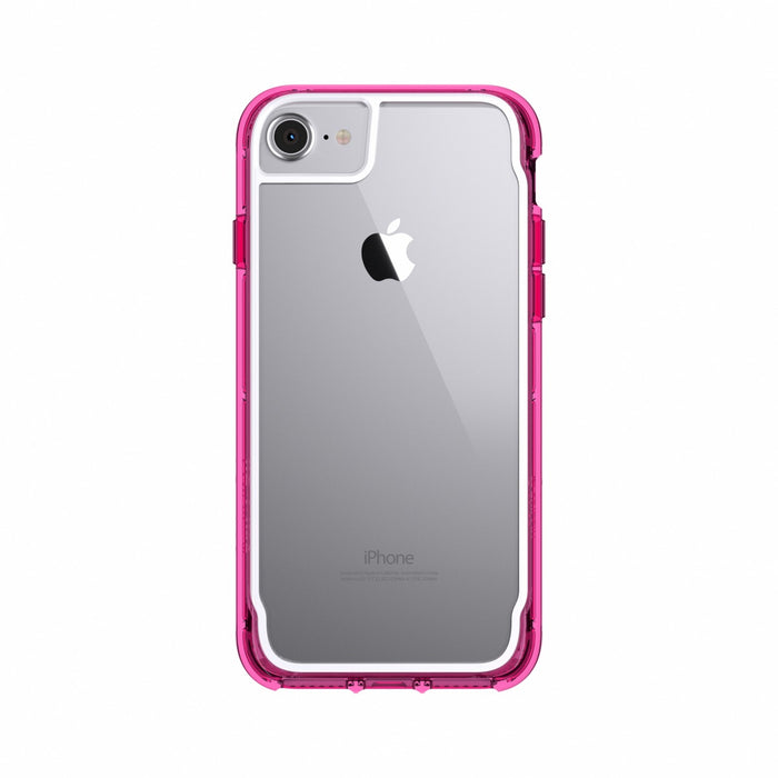 Survivor Clear for iPhone 7, 6s, 6, Fluoro Pink/White