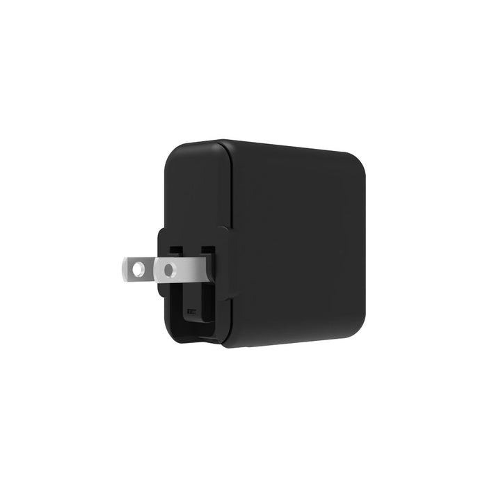 Griffin PowerBlock Dual USB-C PD 18W and USB-A 12W Wall Charger - Black
