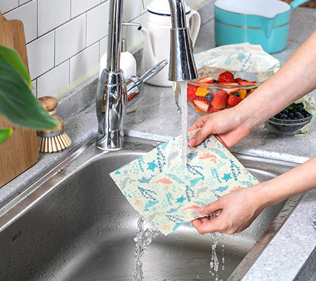How to wash beeswax wrap
