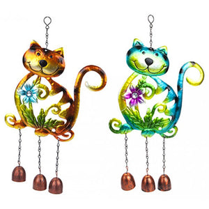 METAL CAT GARDEN WIND CHIME