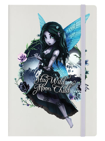 Hexxie Brooke Stay Wild Moon Child Cream A5 Hard Cover Notebook