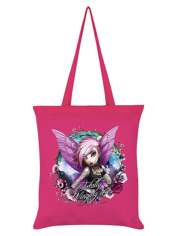Hexxie Violet Totally Winging It Pink Tote Bag