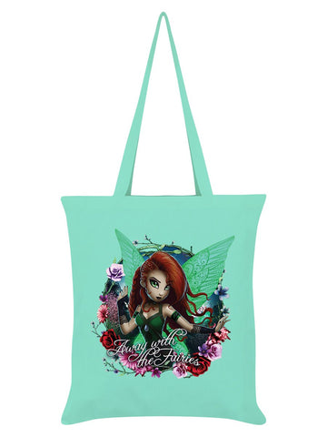Hexxie Saffron Away With The Fairies Mint Green Tote Bag