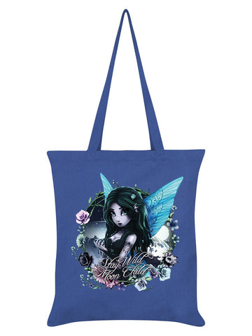Hexxie Brooke Stay Wild Moon Child Cornflower Blue Tote Bag