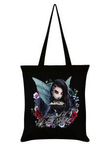 Hexxie Darla Keep Out Of Direct Sunlight Black Tote Bag