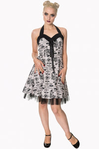 MISSING IN ACTION HALTERNECK DRESS BY BANNED