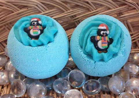 Christmas Penguin Bath Bomb with Shea Butter