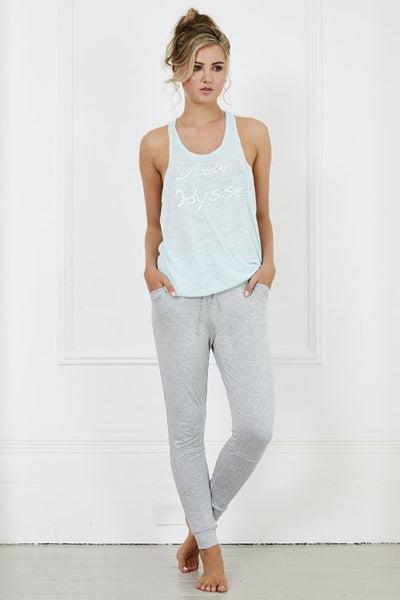 Dream Odyssey Loungewear Set - Grey/aqua A Gift From The Gods