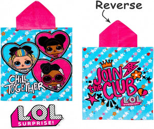 "Official L.O.L. Surprise! ""Chill Together"" Character Hooded Towel Poncho"