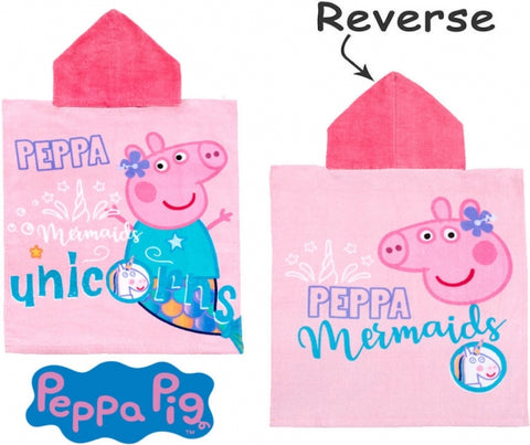Official Peppa Pig Unicorn Character Hooded Towel Poncho