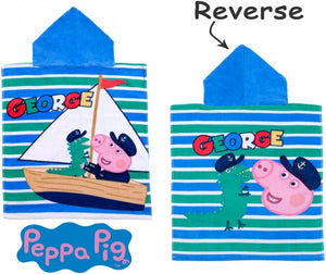 "Official George Pig ""Roar"" Character Hooded Towel Poncho"
