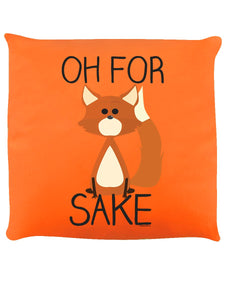 Oh For Fox Sake Orange Cushion