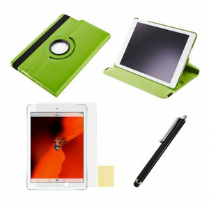 360 Rotation Case + Screen Film + Touch Screen Pen For iPad 5(Air) - Green