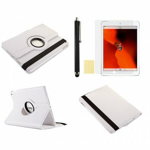 360 Rotation Case + Screen Film + Touch Screen Pen For iPad 5(Air) - White