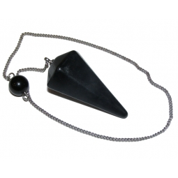 Black Obsidian Faceted Pendulum