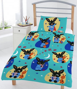 "Official Bing Bunny Bedtime ""Reversible"" Junior, Toddler or Cot Duvet Cover Bedding Set"