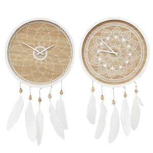 MANDALA DREAMCATCHER CLOCK (HOME STOCK READY TO GO)
