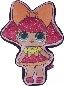 "Official L.O.L. Surprise! ""Glitter Queen"" Character Plush 3D Shaped Cushion"