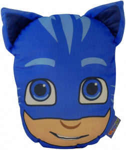 "Official PJ Masks ""Catboy"" 3D Character Plush Shaped Cushion with Pyjama Pouch Zip Pocket"