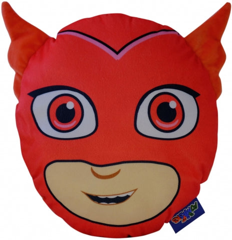 "Official PJ Masks ""Owlette"" 3D Character Plush Shaped Cushion with Pyjama Pouch Zip Pocket"