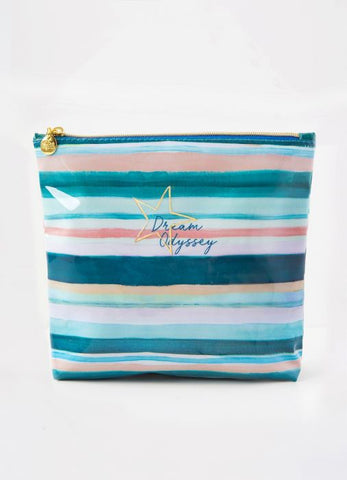 Dream Odyssey Stripe Aqua Wash Bag
