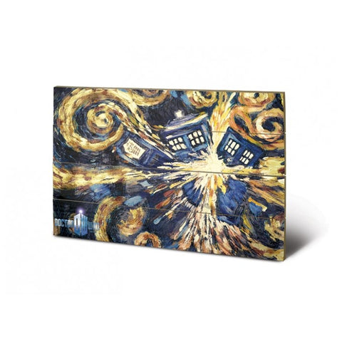 Doctor Who Wooden Wall Art Exploding Tardis