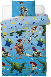 "Official Disney Toy Story 4 Lasso ""Reversible"" Single Duvet Cover Bedding Set"