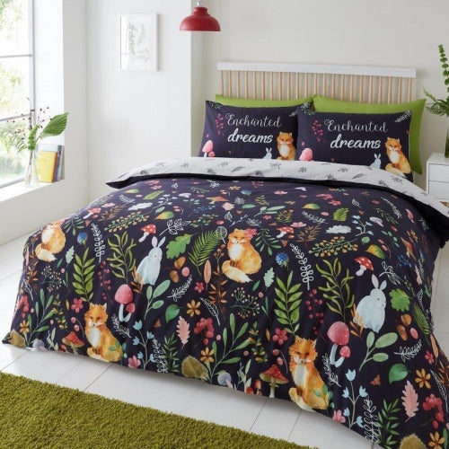 "Enchanted Dreams ""Reversible"" Duvet Cover with Matching Pillow Cases - King Size"