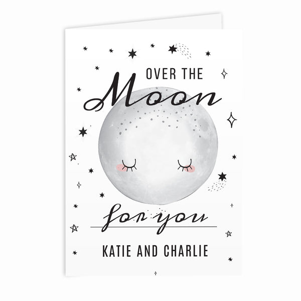 Personalised Over The Moon Card