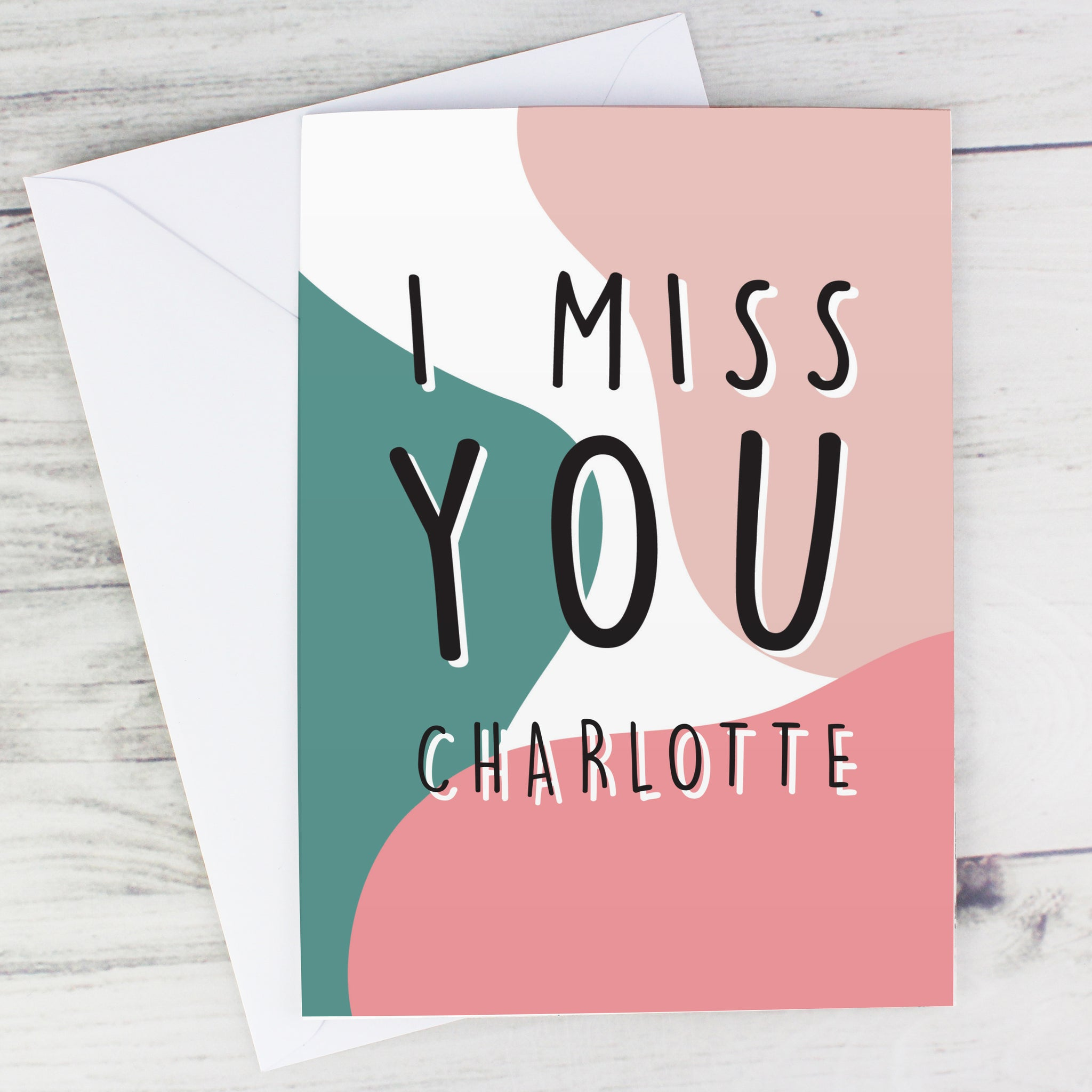 Personalised I Miss You Card