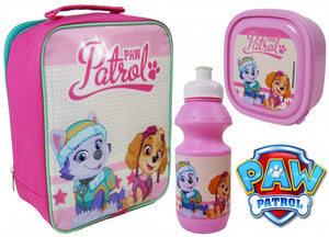 "Official PAW Patrol Skye & Everest 3pc Lunch Bag, Sports Bottle & Sandwich Container ""Perfect For School"""