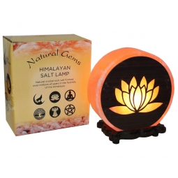 Lotus Flower Design Salt Lamp