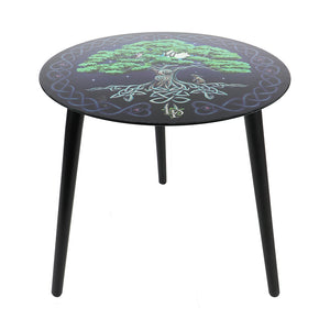 Tree of Life Glass Table by Lisa Parker