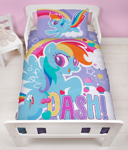 "Official My Little Pony Unicorn Crush ""Reversible"" Junior, Toddler or Cot Duvet Cover Bedding Set"